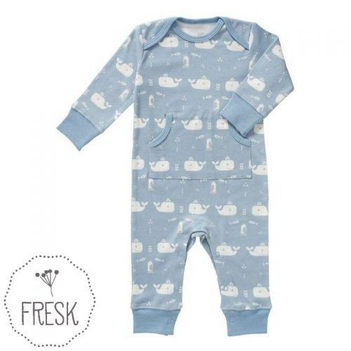 Fresk babykleding onesie walvis blauw