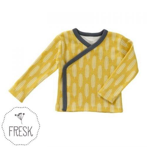 Fresk organic babykleding graan geel wikkelvestje