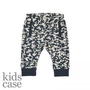 Kidscase babykleding broekje biologisch katoen blauw met wit