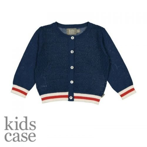 Kidscase babykleding cardigan vestje blauw