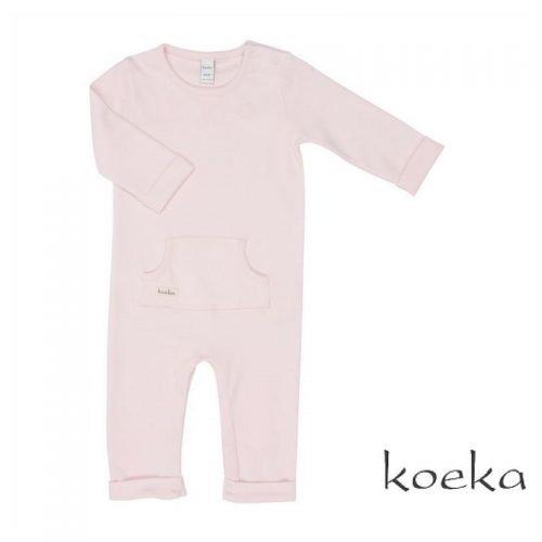 Koeka merk babykleding onesie old baby pink roze