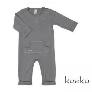 Koeka onesie luc babykleding grijs steel grey
