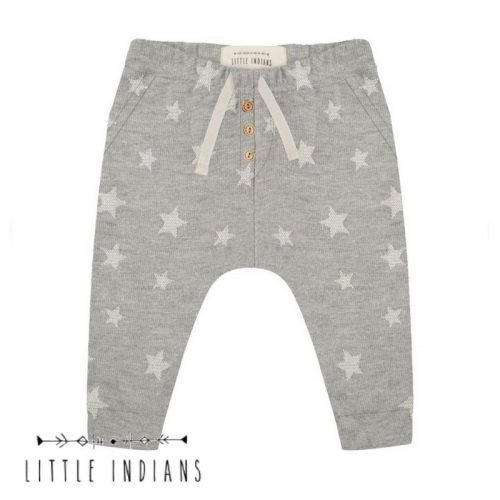 Little Indians broekje sterren grijs merkkleding organic baby grijs
