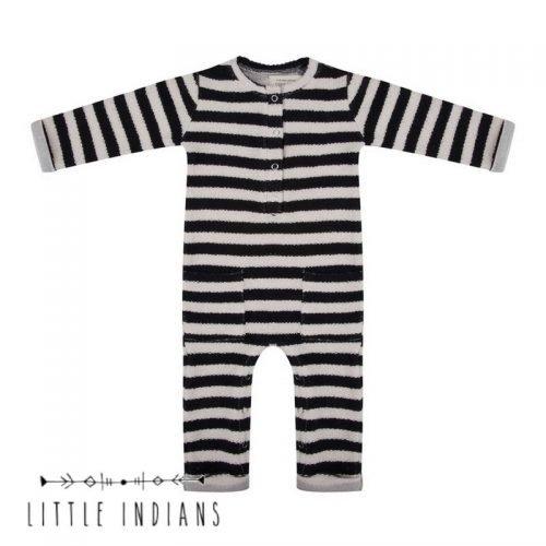 Little indians onesie gestreept kleertjes zwart met wit woven