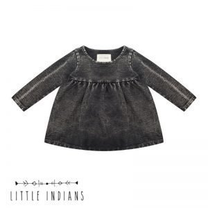 Little indians vintage jurkje babykleertjes zwart