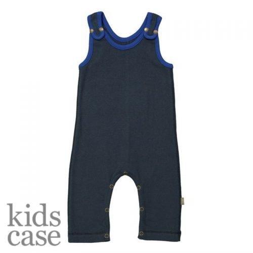 Organisch catsuit donkerblauw kidscase babykleding