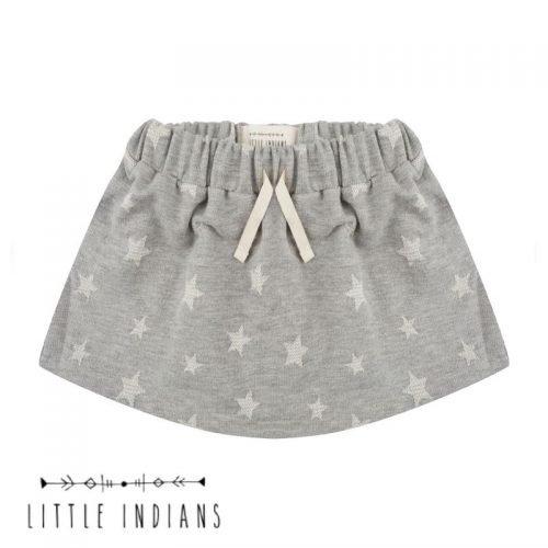 Rokje Little Indians grijs sterren babykleding meisje