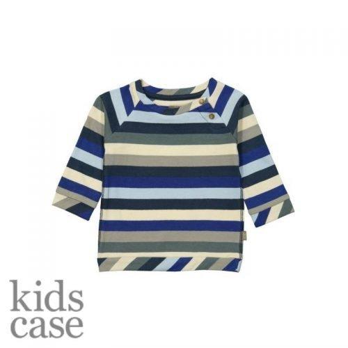 T-shirtje kidscase longsleeve gestreept babykleertjes organic blauw