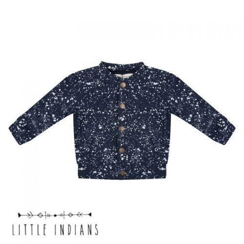 Vestje little indians babykleding splash blauw