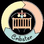 Cribster logo wieg huren wiegverhuur duurzaam en goedkoop