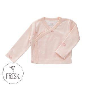 Fresk GOTS babykleding wikkelvestje regenboog roze
