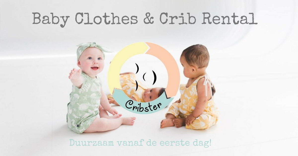 Cribster baby clothes and crib rental logo