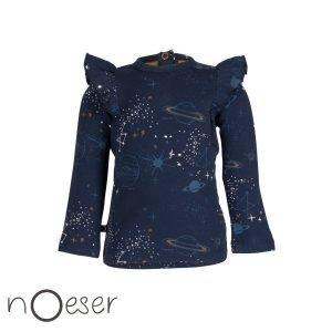 Femke longsleeve space noeser t-shirt ruimte blauw