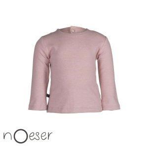 Lizze tee buttons pink babykleding nOeser t-shirt roze babykleding