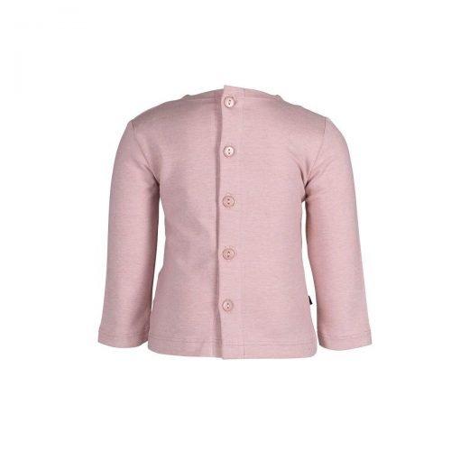 Lizzy tee buttons pink -achterkant nOeser babykleding