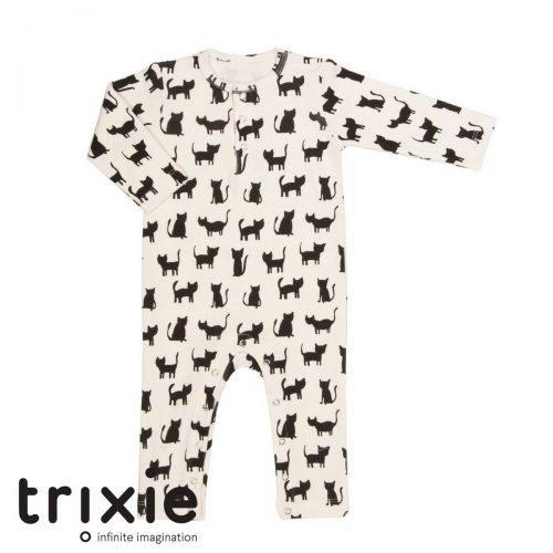 Trixie onesie cats katten wit biologisch katoen