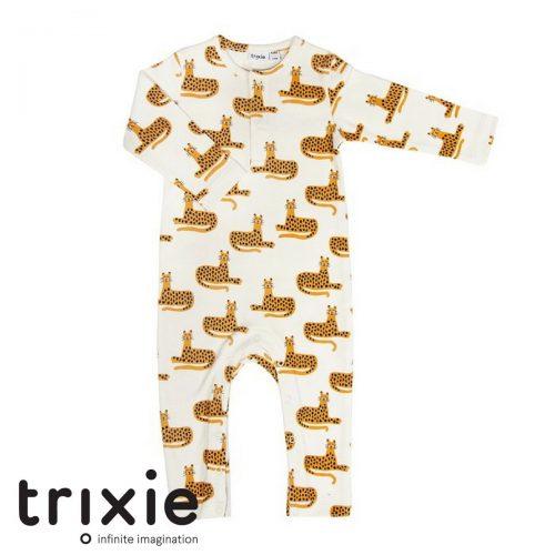 Trixie babykleding merk onesie cheetah wit