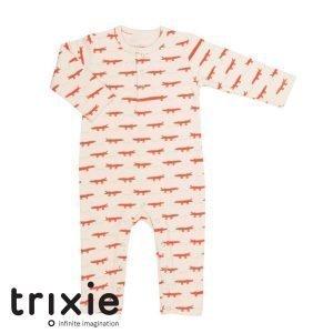 Trixie babykleding merk onesie krokodillen wit met rood