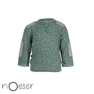 holey sweater truitje nOeser babykleding science wetenschap groen grijs