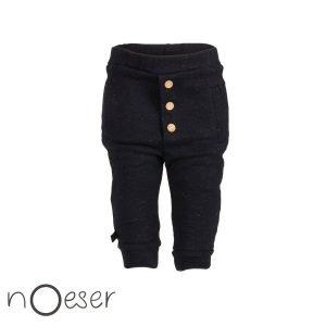 nOeser babykleding Lexia pants gold broekje zwart gouden knopen