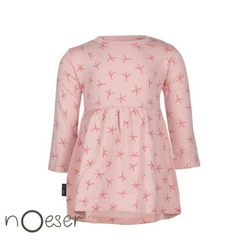 nOeser babykleding Olivia dress bird jurkje roze vogel