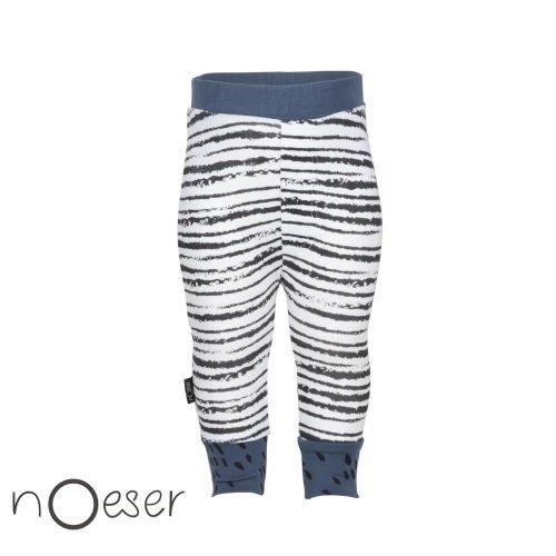 nOeser babykleding Tristan pants stripe legging blauw gestreept