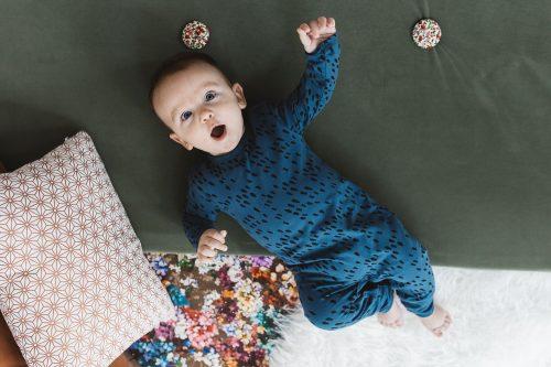 nOeser babykleding babykleertjes onesie GOTS blauw