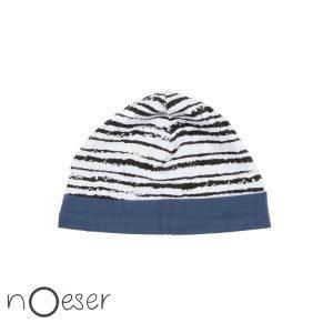 nOeser babykleding hatti hat stripe gestreept mutsje blauw wit zwart