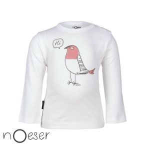 nOeser babykleding henny t-shirt bird vogel wit