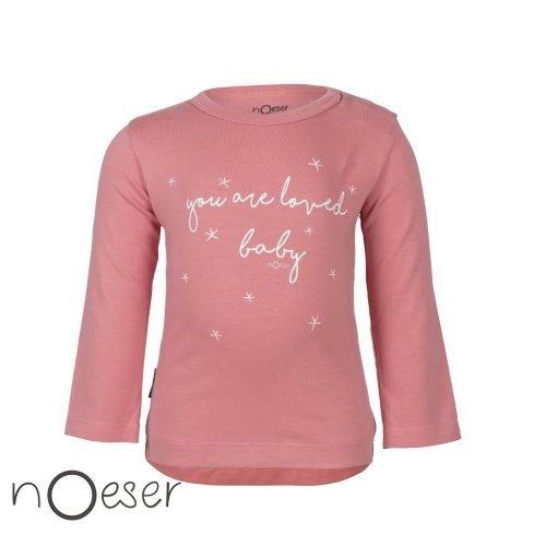nOeser babykleding henny t-shirt you are loved baby roze