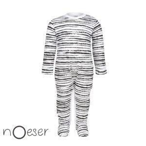 nOeser babykleding onesie riva jumpsuit gestreept wit zwart