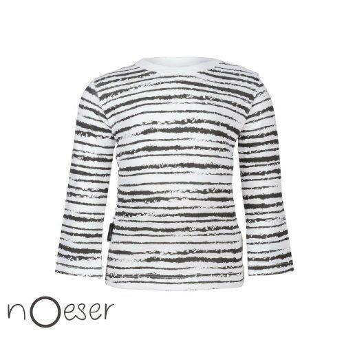nOeser babykleding t-shirt longsleeve stripe gestreept wit en zwart