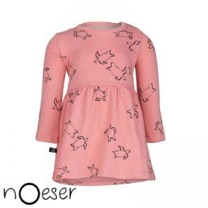 nOeser jurkje merkkleding baby roze schildpadden organic