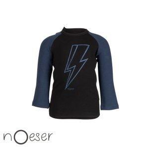 nOeser raf raglan thunder black t-shirt bliksem babykleding organic