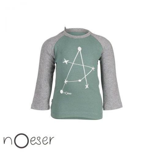 t-shirtje noeser babykleding molecule longsleeve groen grijs moleculen