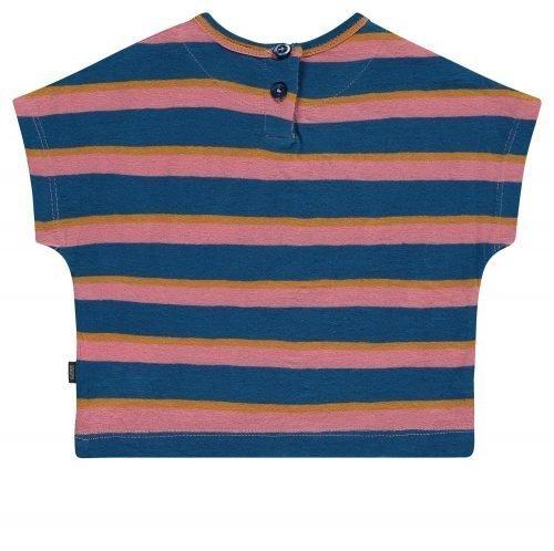 Imps Elfs organic babykleding gestreept t-shirt roze achterkant