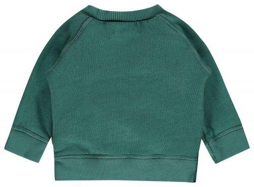 Imps Elfs organic babykleding trui sweater achterkant groen
