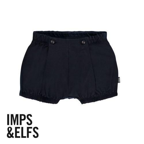 Imps Elfs organic babykleding bloomer kort broekje voorkant donker blauw