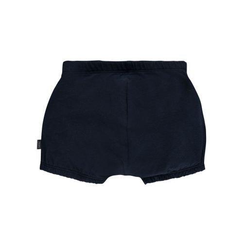 Imps Elfs organic babykleding bloomer kort broekje donker blauw achterkant