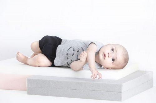 Imps Elfs organic babykleding snake t-shirt bloomer kort broekje blauw grijs