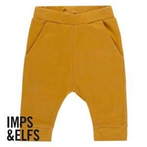 Imps Elfs organic babykleding broekje oker geel