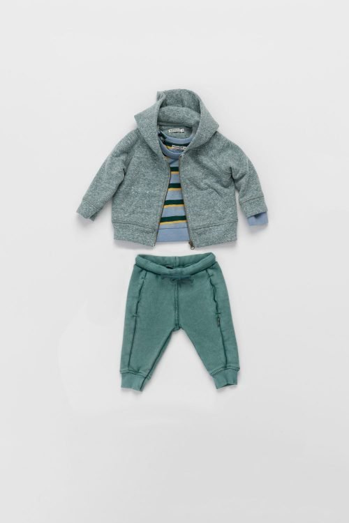 Imps Elfs organic babykleding setje sweat pants broekje