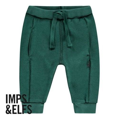 Imps Elfs organic babykleding sweat pants joggingbroek groen voorkant