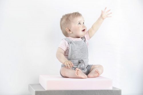 Imps Elfs organic babykleding futurist t-shirt tuinbroekje grijs sweat stof