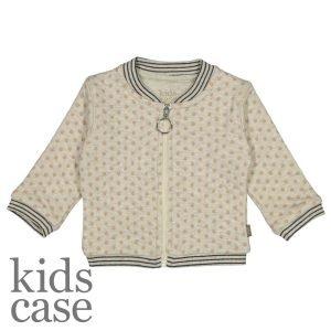 Kidscase babykleding Olive organic jacket vestje wit