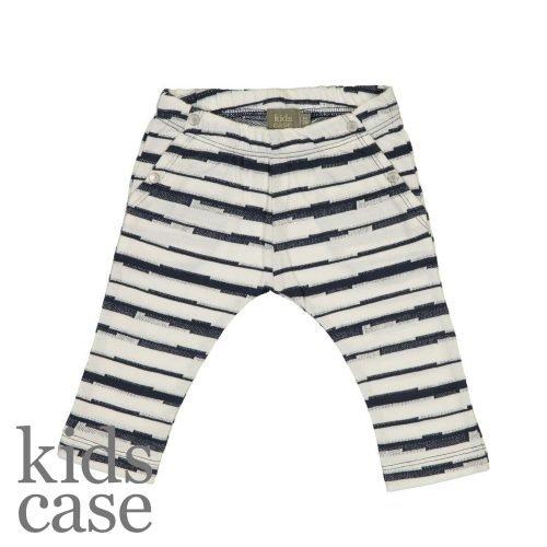 Kidscase babykleding Syd organic pants broekje gestreept blauw met wit
