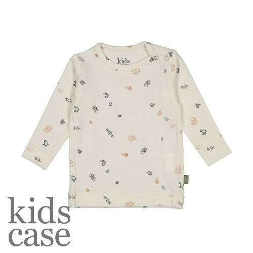 Kidscase babykleding organic longsleeve t-shirt wit