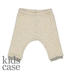 Kidscase babykleding organic olive broekje pants creme wit met gele stippen