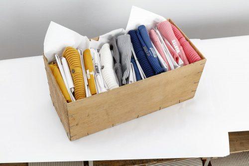 Imps Elfs organic babykleding pakket roze oker wit blauw gestreept