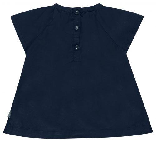 IMPS Elfs jurkje blauw organische babykleding achterkant